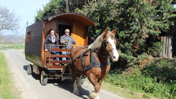 Gypsy-style caravanning in Gascony