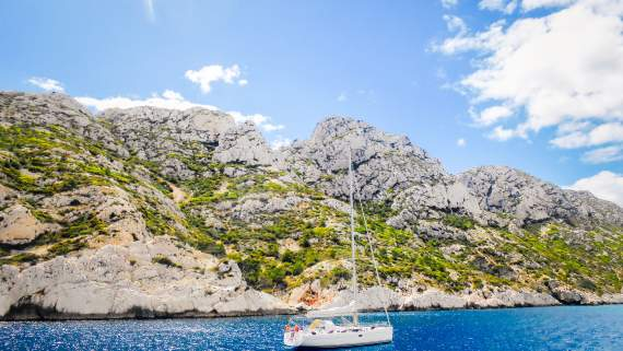 The Calanques between Marseille and Cassis