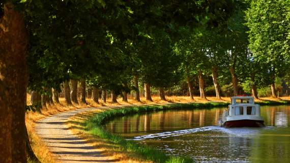 Bicycle tour on the Canal du Midi with children