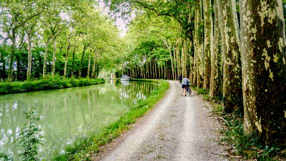 Self-guided bike tour on the Canal du Midi