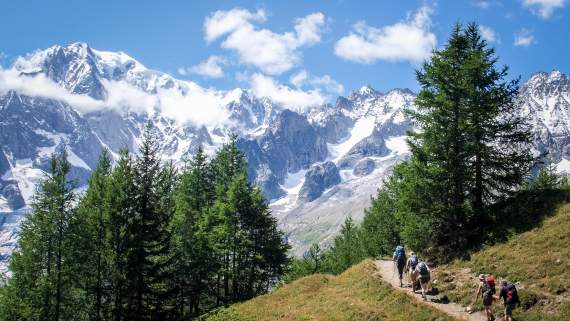 Tour of the Mont Blanc - France - Switzerland - Italy